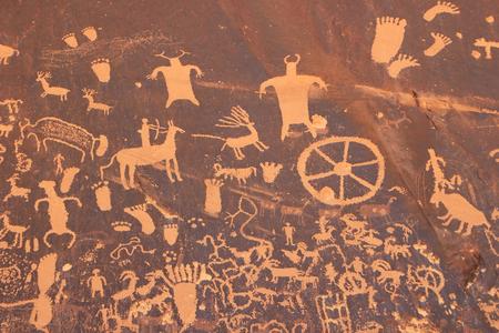 Indian rotstekeningen, Krant Rock staat historische monument, Utah