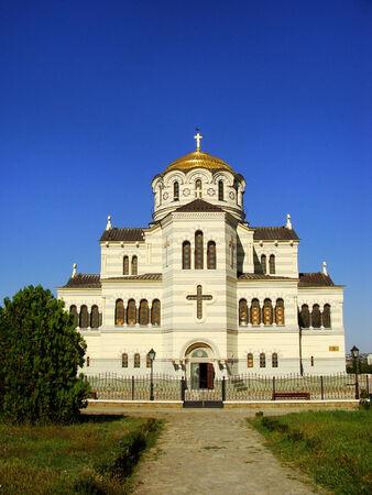 Saint Vladimir Cathedral in Chersonesos Taurica, Sevastopol, Crimea photo