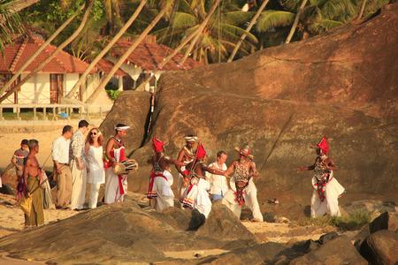 galle: Traditional wedding ceremony on a beach, Unawatuna, Sri Lanka