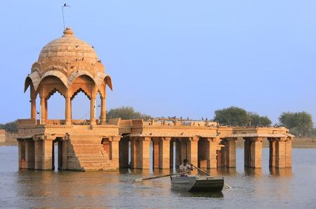 Gadi Sagar temple at Gadisar lake, Jaisalmer, Rajasthan, India