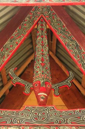 Traditional decoration of Batak house on Samosir island, Sumatra, Indonesia, Southeast Asia