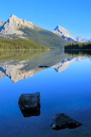 icefield: Maligne lake, Jasper national park, Alberta, Canada