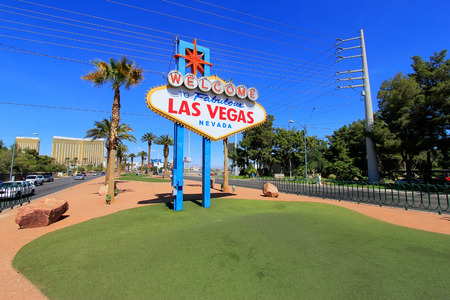 nevada: Welcome to Fabulous Las Vegas sign, Nevada, USA
