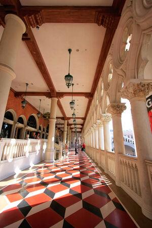 Open balcony at Venetian Resort hotel and casino, Las Vegas, Nevada, USA Editorial