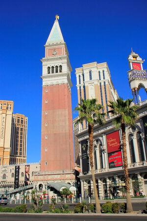 Replica of St Mark Campanile, Venetian Resort hotel and casino, Las Vegas, Nevada, USA