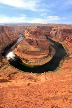 overlook: Horseshoe bend seen from overlook, Arizona