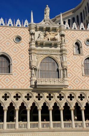 Decorated facade of Venetian Resort hotel and casino, Las Vegas, Nevada, USA Editorial