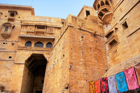 Main entrance to Jaisalmer fort, Rajasthan, India Stock Photo
