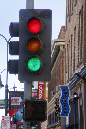 reno: Traffic light in the street of Reno, Nevada, USA Editorial