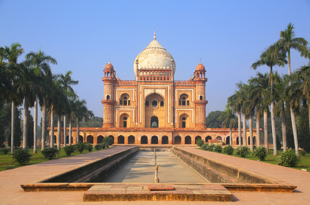 monument in india: Tomb of Safdarjung in New Delhi, India. It was built in 1754 in the late Mughal Empire style. Stock Photo