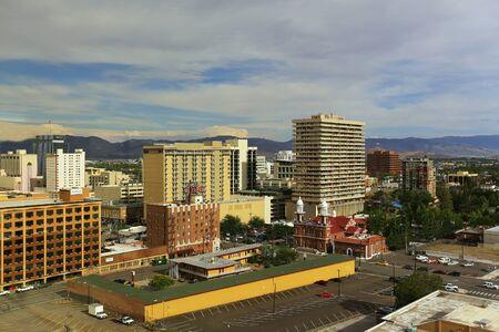 nevada: Aerial view of Reno downtown, Nevada, USA