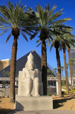 Replica of ancient egyptian statue at Luxor hotel and casino in Las Vegas, Nevada, USA