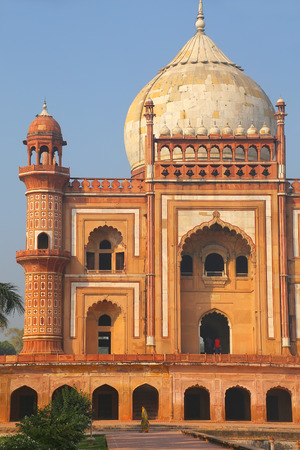 mughal empire: Close view of Safdarjung Tomb, New Delhi, India. Tomb was built in 1754 in the late Mughal Empire style.
