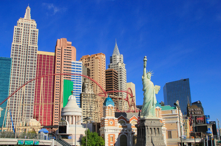new york strip: New York - New York hotel and casino, Las Vegas Nevada, USA