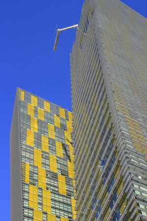 veer: Close up of Veer twin residential towers in Las Vegas, Nevada, USA