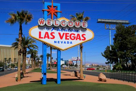 las vegas lights: Welcome to Fabulous Las Vegas sign, Nevada, USA