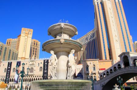 Fountain at Venetian Resort hotel and casino, Las Vegas, Nevada, USA Editorial