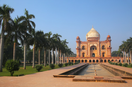 mughal empire: Tomb of Safdarjung in New Delhi, India. It was built in 1754 in the late Mughal Empire style. Stock Photo