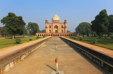 new delhi: Tomb of Safdarjung in New Delhi, India. It was built in 1754 in the late Mughal Empire style. Stock Photo