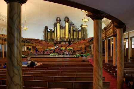 tabernacle: Tabernacle organ in Salt Lake City, Utah. It is one of the largest organs in the world. Editorial