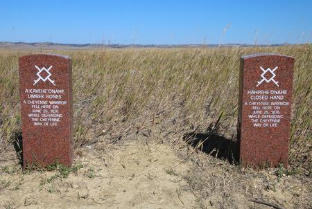 少しビッグホーン戦場国定公園、モンタナ州、アメリカに ...