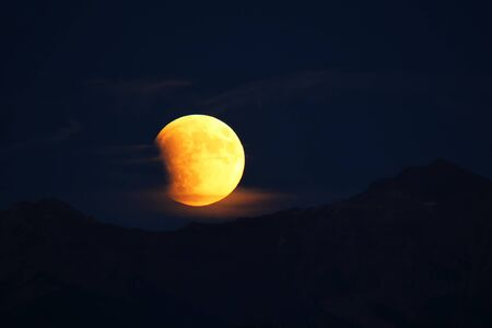 latter: Total Lunar Eclipse of a Supermoon on September 27, 2015 in Colorado, USA. It is the latter of two total lunar eclipses in 2015, and the final in a tetrad. Next total lunar eclipse will happen in 2033.