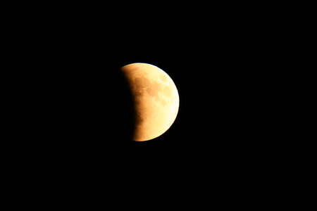 Total Lunar Eclipse of Supermoon on September 27, 2015 in Colorado, USA. It is the latter of two total lunar eclipses in 2015. Next total lunar eclipse will happen in 2033.