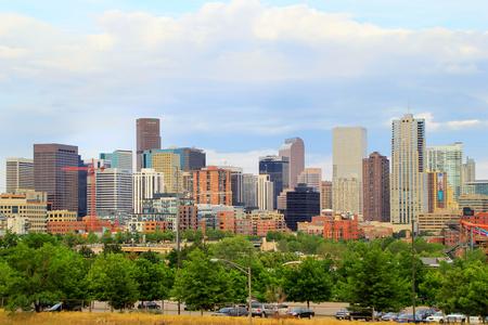 colorado skyline: Skyline of Denver in Colorado, USA.  Denver is the most populous city in Colorado. Editorial
