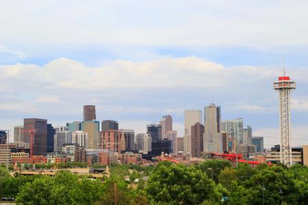 city of denver: Skyline of Denver in Colorado, USA.  Denver is the most populous city in Colorado. Editorial