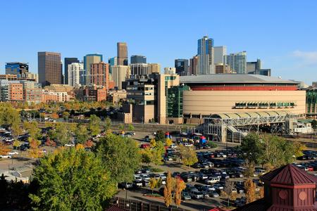 populous: Skyline of Denver in Colorado, USA.  Denver is the most populous city in Colorado. Editorial