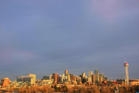 colorado city: Skyline of Denver in Colorado, USA.  Denver is the most populous city in Colorado. Editorial