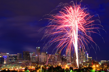 colorado city: Fireworks on the 4th of July in Denver, Colorado. Denver is the most populous city in Colorado.