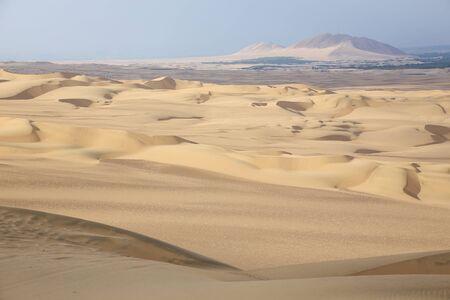 Sand dunes near Huacachina in Ica region, Peru.