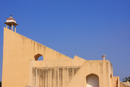 rajput: Astronomical Observatory Jantar Mantar in Jaipur, India.  It is a collection of 19 instruments, built by the Rajput king Sawai Jai Singh.