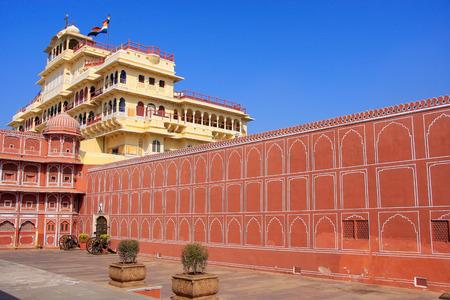 maharaja: Chandra Mahal in Jaipur City Palace, Rajasthan, India. Palace was the seat of the Maharaja of Jaipur, the head of the Kachwaha Rajput clan.