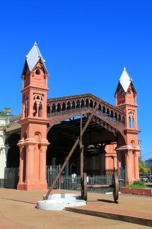 Ancienne gare à Asuncion, Paraguay. Asuncion est la capitale et la plus grande ville du Paraguay