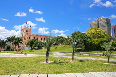Promenade de la rivière Paraguay à Asuncion, Paraguay. Asuncion est la capitale et la plus grande ville du Paraguay.