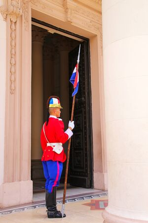 paraguayan: Guard standing by the entrance to National Pantheon of the Heroes in Asuncion, Paraguay. It  is the mausoleum of the country, where lie the remains of the great heroes of Paraguayan history. Editorial