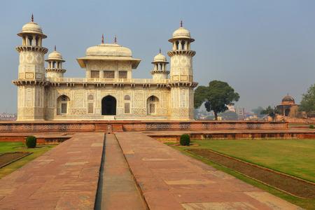 regarded: Tomb of Itimad-ud-Daulah in Agra, Uttar Pradesh, India. This Tomb is often regarded as a draft of the Taj Mahal.
