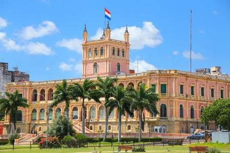 Palais présidentiel à Asuncion, Paraguay. Il sert de lieu de travail au président et au gouvernement du Paraguay.