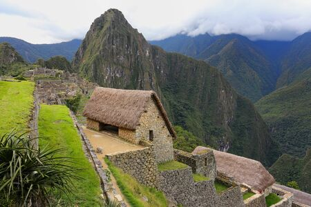 voted: Stone building at Machu Picchu citadel in Peru. In 2007 Machu Picchu was voted one of the New Seven Wonders of the World.