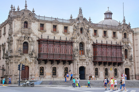archbishop: Archbishops Palace on Plaza Mayor in Lima, Peru. It is the residence of the Archbishop of Lima, and the administrative headquarters of the Roman Catholic Archdiocese of Lima.