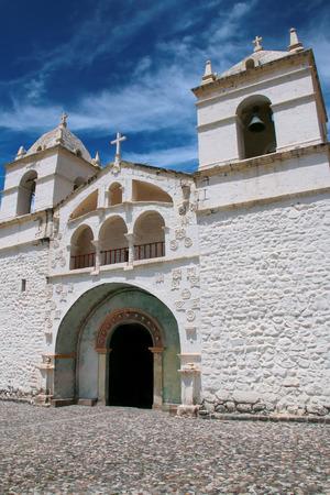 maca: Church of Santa Ana in Maca, Colca Canyon, Peru. It is dating back to the XVI century.