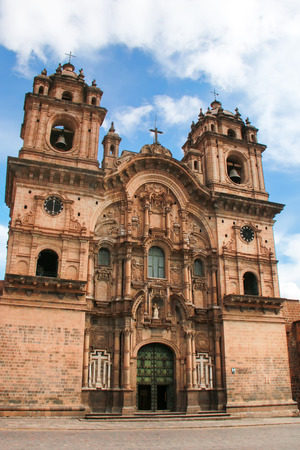 iglesia de la compania: Iglesia de la Compania de Jesus on Plaza de Armas in Cusco, Peru. In 1983 Cusco was declared a World
