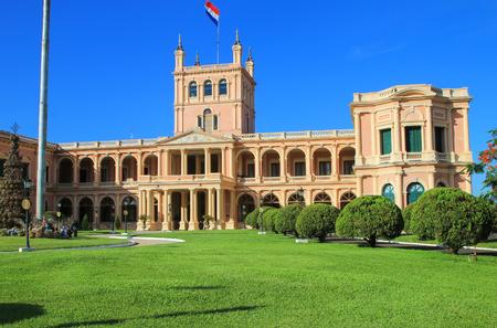 Palais présidentiel à Asuncion, Paraguay. Il sert de lieu de travail au président et au gouvernement du Paraguay. Éditoriale