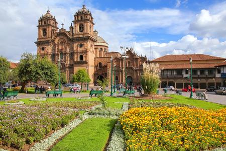 Iglesia de la Compania de Jesus on Plaza de Armas in Cusco, Peru. In 1983 Cusco was declared a World Heritage Site by UNESCO