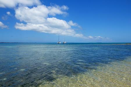 Clear water at Pangaimotu island near Tongatapu island in Tonga. Kindom of Tonga is an archipelago comprised of 169 islands