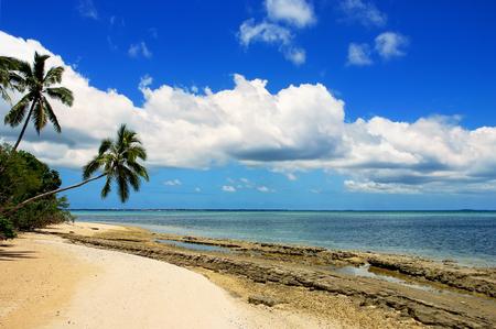 Shore of Makahaa island near Tongatapu island in Tonga. Kindom of Tonga is an archipelago comprised of 169 islands