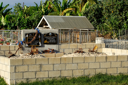 sovereign: Traditional graveyard on Tongatapu island, Tonga. Tonga is a Polynesian sovereign state and archipelago.
