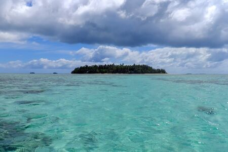 Small island off the coast of Tongatapu island in Tonga. Kindom of Tonga is an archipelago comprised of 169 islands